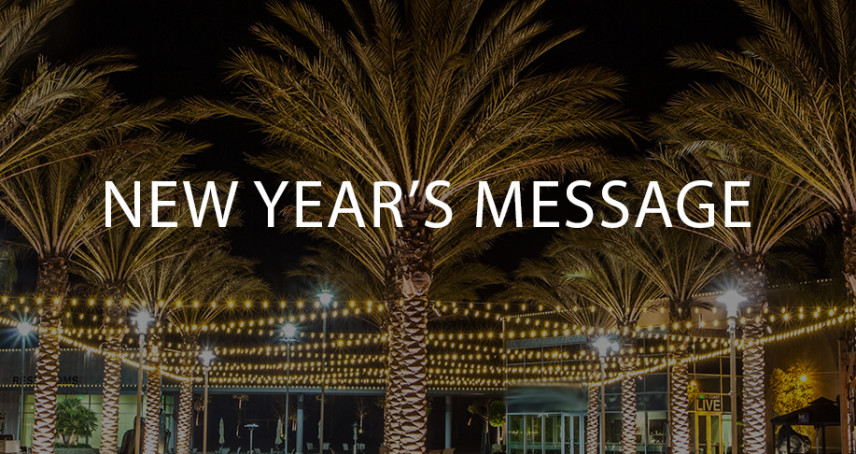 New Year's Message 2018