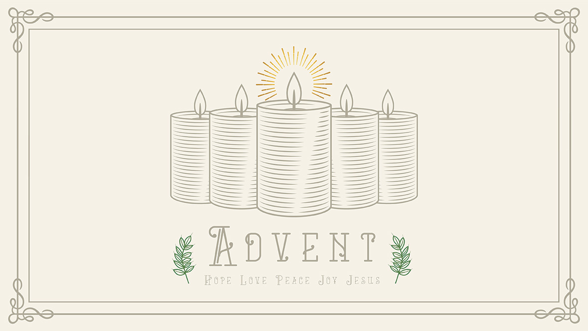 Advent - Hope, Love, Peace, Joy, Jesus